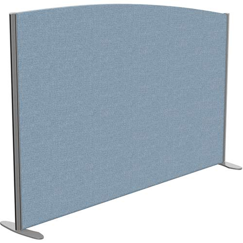 Sprint Eco Freestanding Screen Curved Top W1800xH1200-1000mm Light Blue - With Stabilising Feet