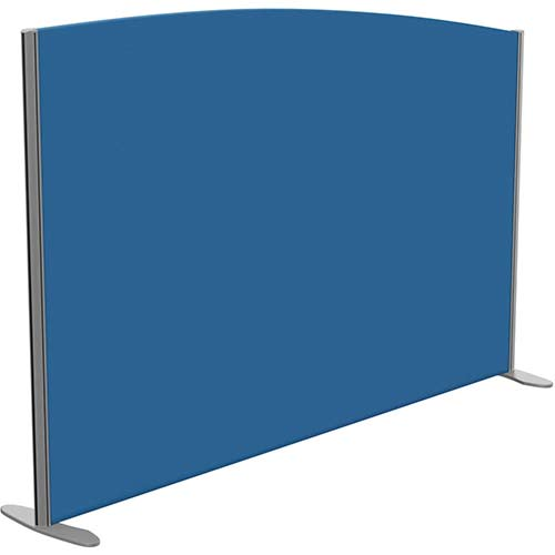 Sprint Eco Freestanding Screen Curved Top W1800xH1200-1000mm Blue - With Stabilising Feet
