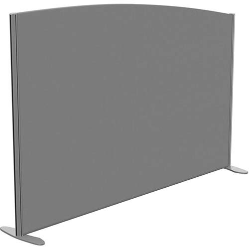 Sprint Eco Freestanding Screen Curved Top W1800xH1200-1000mm Grey - With Stabilising Feet