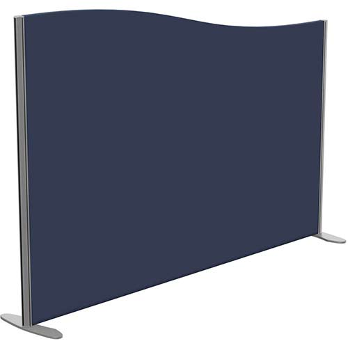 Sprint Eco Freestanding Screen Wave Top W1800xH1200-1000mm Dark Blue - With Stabilising Feet