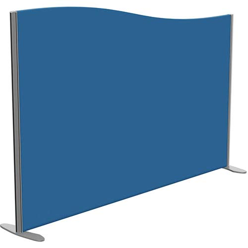 Sprint Eco Freestanding Screen Wave Top W1800xH1200-1000mm Blue - With Stabilising Feet