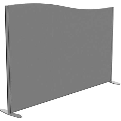 Sprint Eco Freestanding Screen Wave Top W1800xH1200-1000mm Grey - With Stabilising Feet