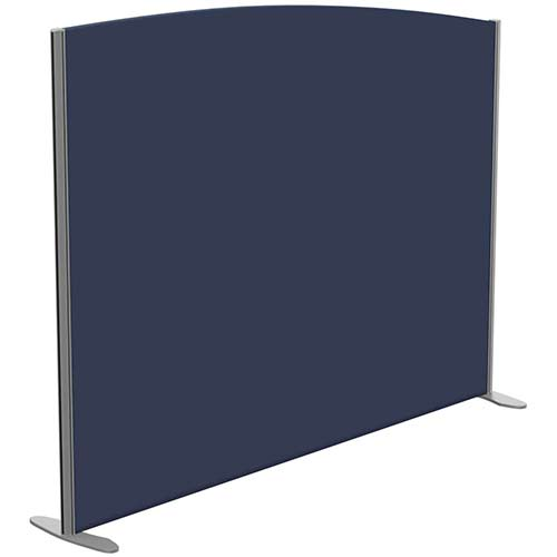 Sprint Eco Freestanding Screen Curved Top W1800xH1400-1200mm Dark Blue - With Stabilising Feet