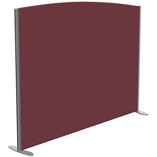 Sprint Eco Freestanding Screen Curved Top W1800xH1400-1200mm Wine - With Stabilising Feet