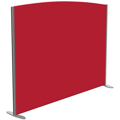 Sprint Eco Freestanding Screen Curved Top W1800xH1400-1200mm Red - With Stabilising Feet