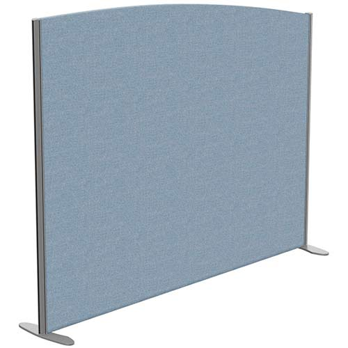 Sprint Eco Freestanding Screen Curved Top W1800xH1400-1200mm Light Blue - With Stabilising Feet