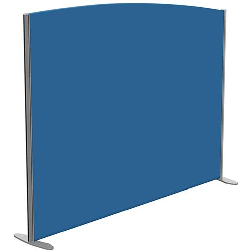 Sprint Eco Freestanding Screen Curved Top W1800xH1400-1200mm Blue - With Stabilising Feet