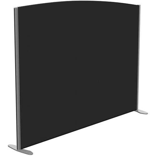 Sprint Eco Freestanding Screen Curved Top W1800xH1400-1200mm Black - With Stabilising Feet