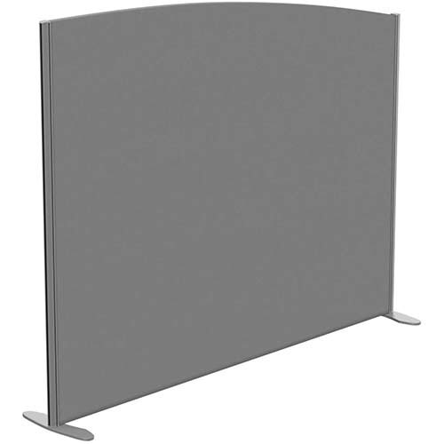 Sprint Eco Freestanding Screen Curved Top W1800xH1400-1200mm Grey - With Stabilising Feet