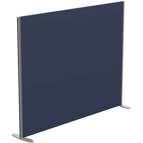 Sprint Eco Freestanding Screen Straight Top W1800xH1400mm Dark Blue - With Stabilising Feet