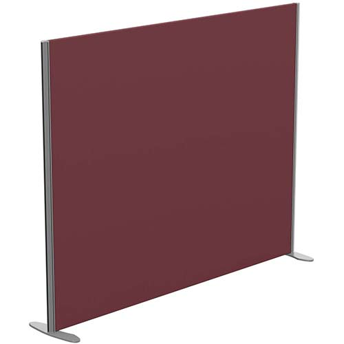 Sprint Eco Freestanding Screen Straight Top W1800xH1400mm Wine - With Stabilising Feet