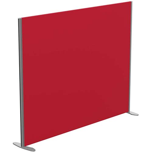 Sprint Eco Freestanding Screen Straight Top W1800xH1400mm Red - With Stabilising Feet