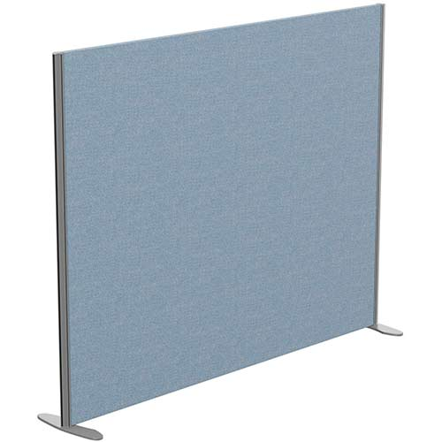 Sprint Eco Freestanding Screen Straight Top W1800xH1400mm Light Blue - With Stabilising Feet