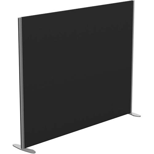 Sprint Eco Freestanding Screen Straight Top W1800xH1400mm Black - With Stabilising Feet