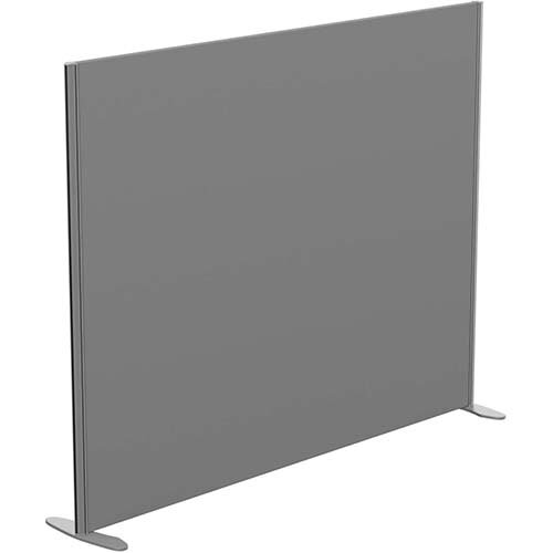 Sprint Eco Freestanding Screen Straight Top W1800xH1400mm Grey - With Stabilising Feet