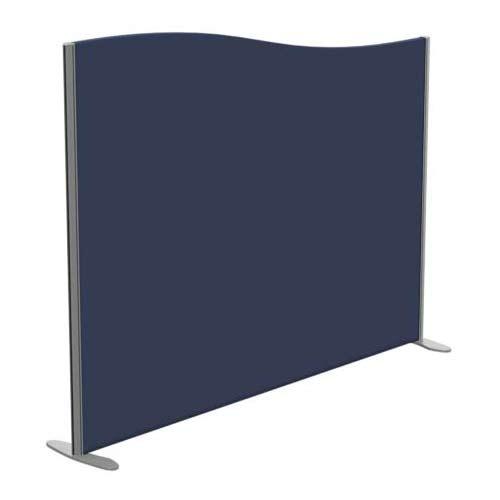 Sprint Eco Freestanding Screen Wave Top W1800xH1400-1200mm Dark Blue - With Stabilising Feet