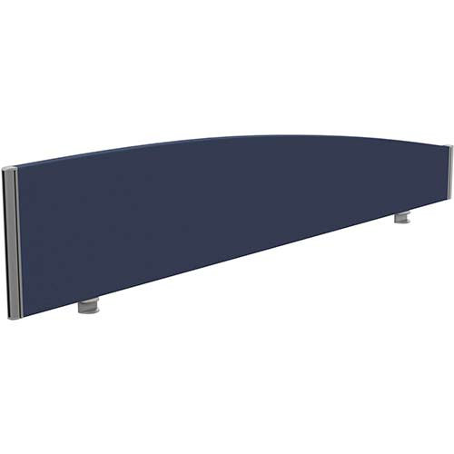 Sprint Eco Office Desk Screen Curved Top W1800xH380-180mm Dark Blue