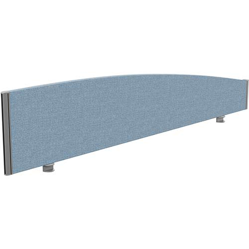 Sprint Eco Office Desk Screen Curved Top W1800xH380-180mm Light Blue