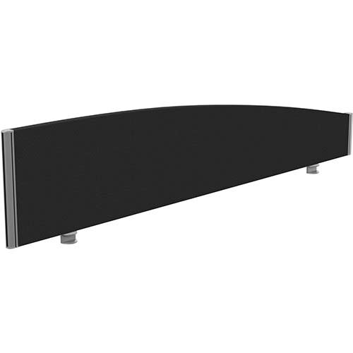 Sprint Eco Office Desk Screen Curved Top W1800xH380-180mm Black