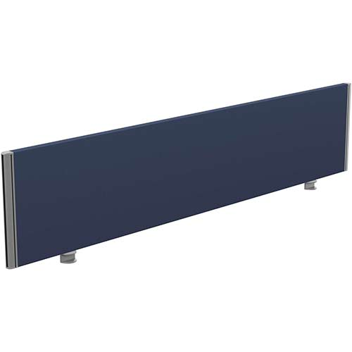 Sprint Eco Office Desk Screen Straight Top W1800xH380mm Dark Blue