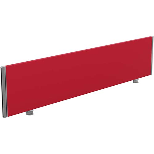 Sprint Eco Office Desk Screen Straight Top W1800xH380mm Red