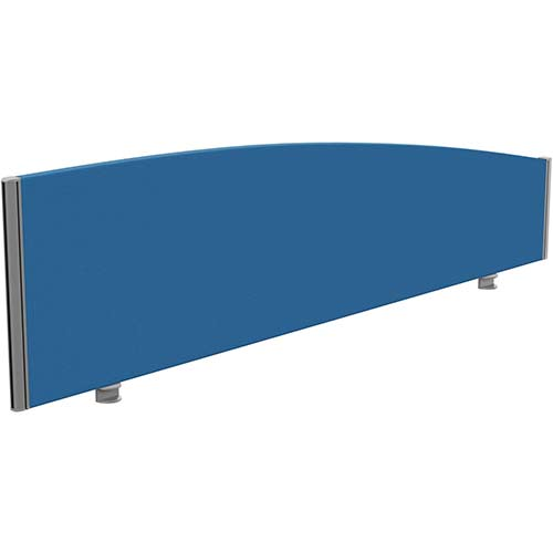 Sprint Eco Office Desk Screen Curved Top W1800xH480-280mm Blue