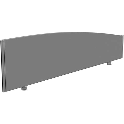 Sprint Eco Office Desk Screen Curved Top W1800xH480-280mm Grey
