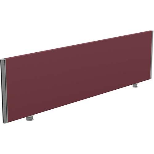 Sprint Eco Office Desk Screen Straight Top W1800xH480mm Burgundy