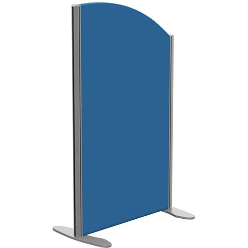 Sprint Eco Freestanding Privacy Acoustic Screen Curved Top W600xH1000-800mm Blue - With Stabilising Feet