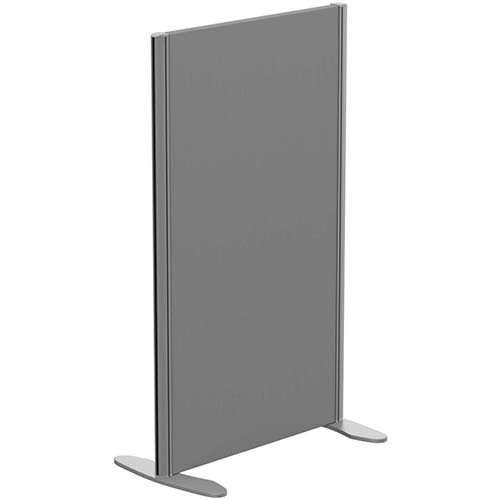 Sprint Eco Freestanding Screen Straight Top W600xH1000mm Grey - With Stabilising Feet