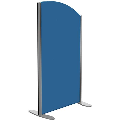 Sprint Eco Freestanding Privacy Acoustic Screen Curved Top W600xH1100-900mm Blue - With Stabilising Feet