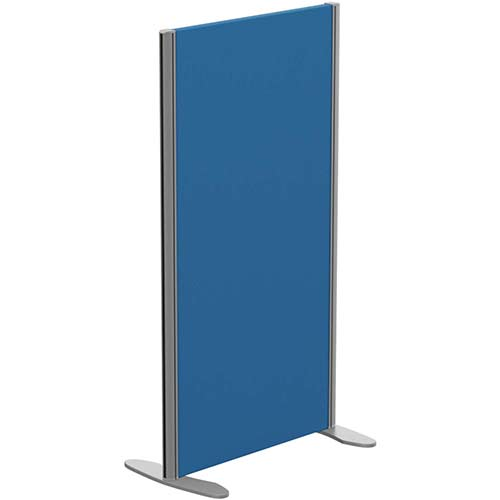 Sprint Eco Freestanding Privacy Acoustic Screen Straight Top W600xH1100mm Blue - With Stabilising Feet