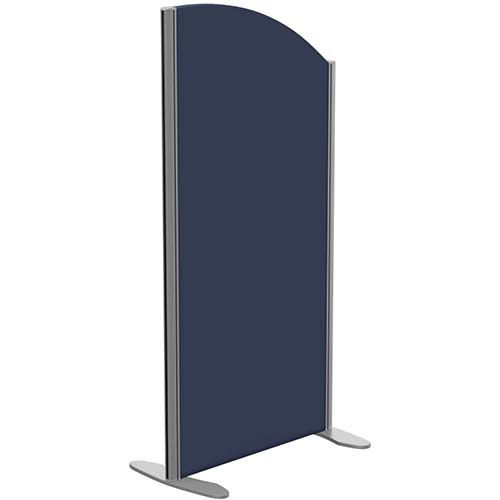 Sprint Eco Freestanding Screen Curved Top W600xH1200-1000mm Dark Blue - With Stabilising Feet