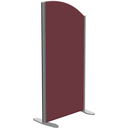 Sprint Eco Freestanding Screen Curved Top W600xH1200-1000mm Wine - With Stabilising Feet