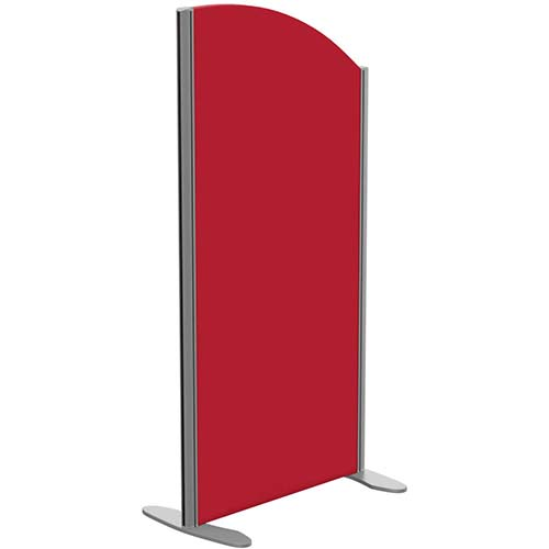 Sprint Eco Freestanding Screen Curved Top W600xH1200-1000mm Red - With Stabilising Feet