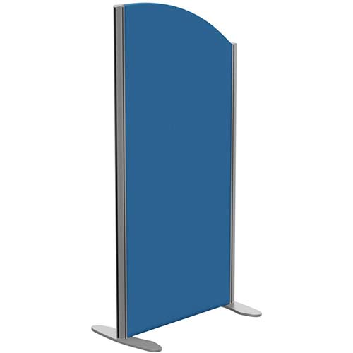 Sprint Eco Freestanding Screen Curved Top W600xH1200-1000mm Blue - With Stabilising Feet
