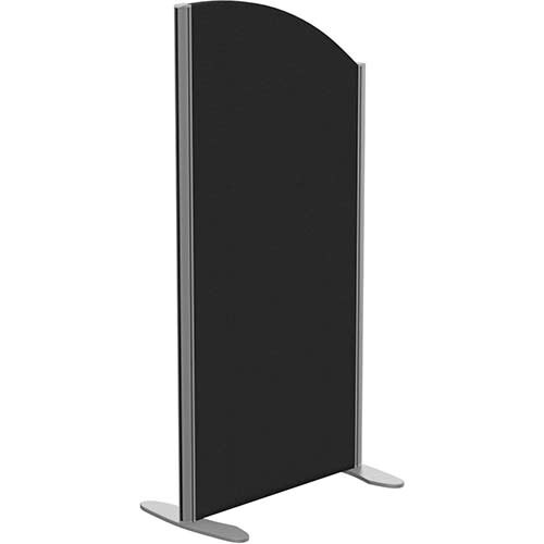 Sprint Eco Freestanding Screen Curved Top W600xH1200-1000mm Black - With Stabilising Feet