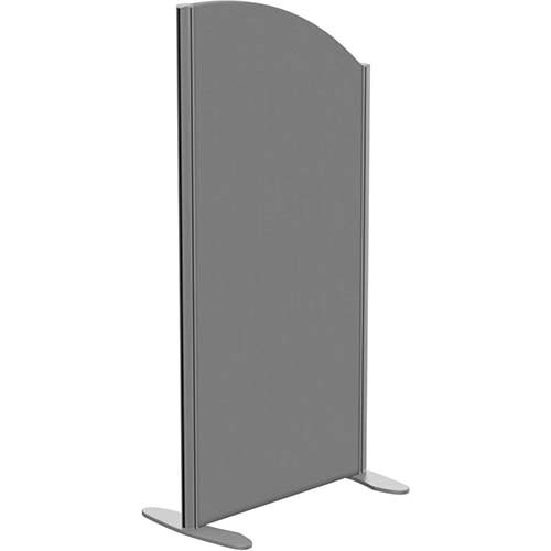 Sprint Eco Freestanding Screen Curved Top W600xH1200-1000mm Grey - With Stabilising Feet