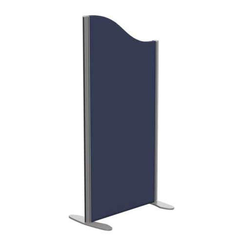 Sprint Eco Freestanding Screen Wave Top W600xH1200-1000mm Dark Blue - With Stabilising Feet