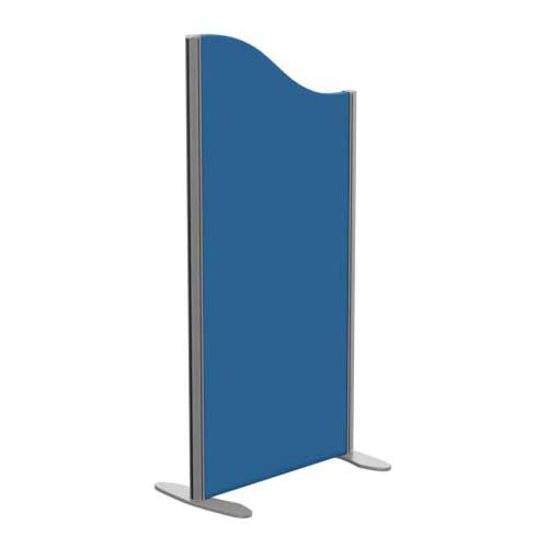 Sprint Eco Freestanding Screen Wave Top W600xH1200-1000mm Blue - With Stabilising Feet