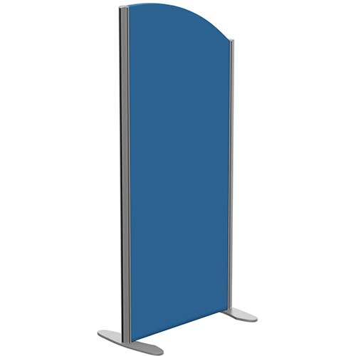 Sprint Eco Freestanding Privacy Acoustic Screen Curved Top W600xH1300-1100mm Blue - With Stabilising Feet