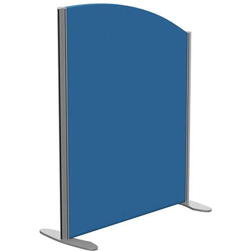 Sprint Eco Freestanding Privacy Acoustic Screen Curved Top W800xH1000-800mm Blue - With Stabilising Feet