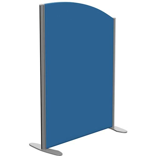 Sprint Eco Freestanding Privacy Acoustic Screen Curved Top W800xH1100-900mm Blue - With Stabilising Feet