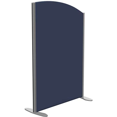 Sprint Eco Freestanding Screen Curved Top W800xH1200-1000mm Dark Blue - With Stabilising Feet