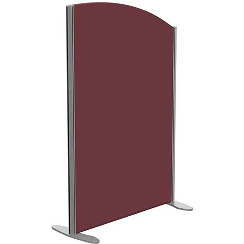 Sprint Eco Freestanding Screen Curved Top W800xH1200-1000mm Wine - With Stabilising Feet