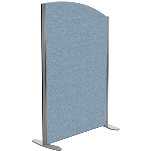Sprint Eco Freestanding Screen Curved Top W800xH1200-1000mm Light Blue - With Stabilising Feet