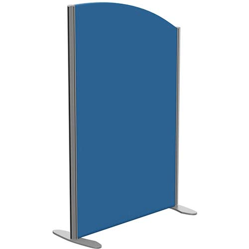 Sprint Eco Freestanding Screen Curved Top W800xH1200-1000mm Blue - With Stabilising Feet