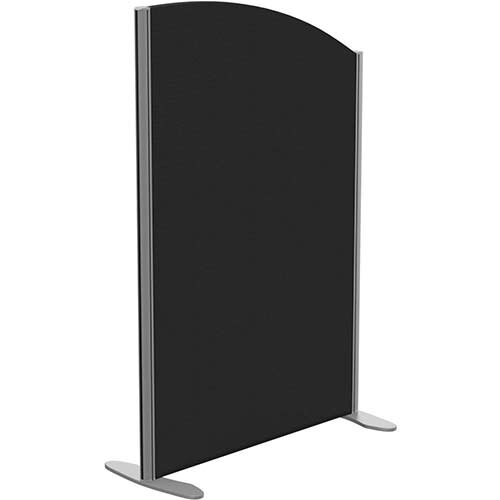Sprint Eco Freestanding Screen Curved Top W800xH1200-1000mm Black - With Stabilising Feet