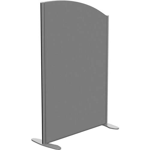 Sprint Eco Freestanding Screen Curved Top W800xH1200-1000mm Grey - With Stabilising Feet
