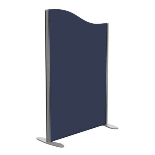 Sprint Eco Freestanding Screen Wave Top W800xH1200-1000mm Dark Blue - With Stabilising Feet